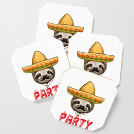 Bout A Party Sloth Coaster