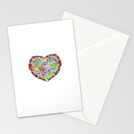 flowers in the heart Stationery Cards