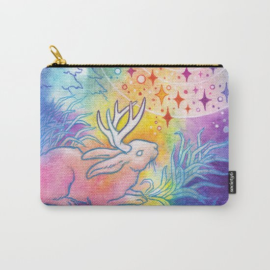 Jackalope of the Night Carry-All Pouch