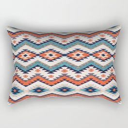 N70 - Bohemian Traditional Vintage Farmhouse Moroccan Style Artwork  Rectangular Pillow