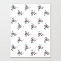 motorbike Canvas Prints featuring Motorbike by June Chang Studio