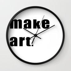 make art. Wall Clock