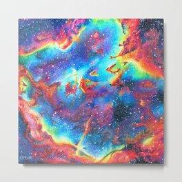 Colorful Space Nebula Metal Print