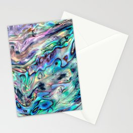 Iridescent Abalone Pearl Shell Stationery Cards