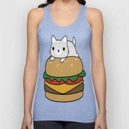 Cute-Hamburger-Cat-T-Shirt Unisex Tank Top