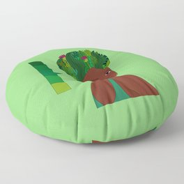 Colorful Mother Earth: Nikita Abuya Floor Pillow