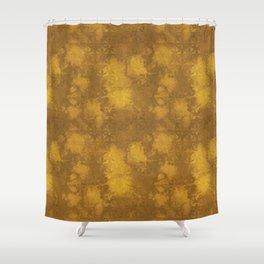 Aged Gold Damask Shower Curtain