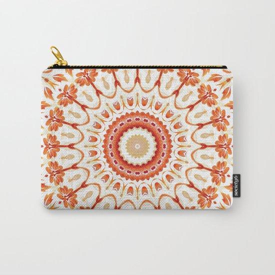 Floral Sun Mandala Carry-All Pouch