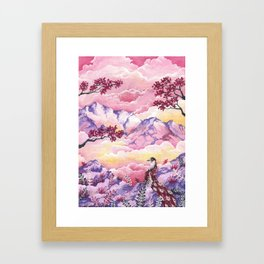 Lonely Phoenix Framed Art Print