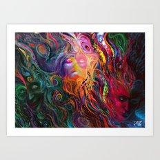 White eye Art Print