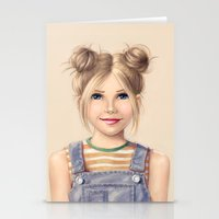 90s Stationery Cards featuring 90s Chick by kristen keller reeves
