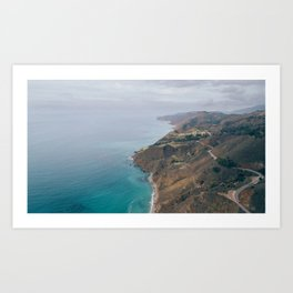 California Coast Aerial Art Print