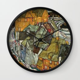 Egon Schiele - Crescent of Houses II (Island Town) Wall Clock