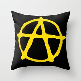 Anarcho-Capitalism Throw Pillow