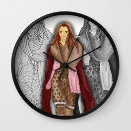 Autumnal Girl Wall Clock