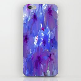 Blue Cherry Blossoms iPhone Skin