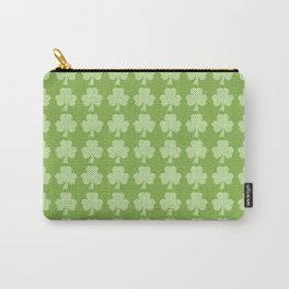 Greenery Shamrock Clover Polka dots St. Patrick's Day Carry-All Pouch