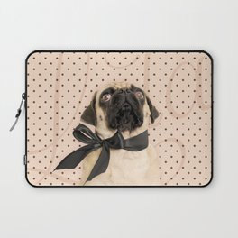 Trés Chic Pug Laptop Sleeve