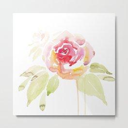 Dripping Rose Metal Print