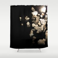 fireworks Shower Curtains featuring Fireworks by Ivo Becker