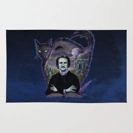 Edgar Allan Poe Gothic Rug
