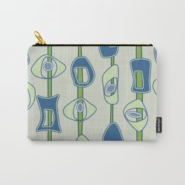 Mod Blobs in blue and greens Carry-All Pouch