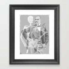 Crown Pursuit -- Black and White Variant Framed Art Print