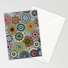 mandala cirque festival silver Stationery Cards