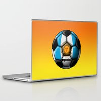 argentina Laptop & iPad Skins featuring Argentina Ball by kuuma