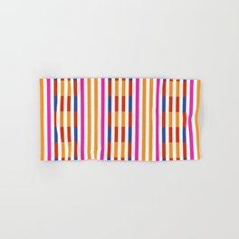 Yellow And White Lines Pattern Hand & Bath Towel