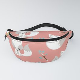 ARCTIC FOXES ON CORAL Fanny Pack