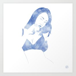 Susie Blue Art Print