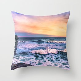 Sunset of the Bay of Biscay Throw Pillow
