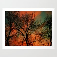 Vets Day Sunset Art Print