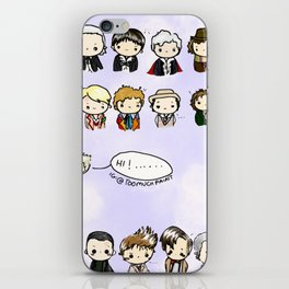 Kawaii Doctors (1 to 12 and War) Doctor Who iPhone Skin