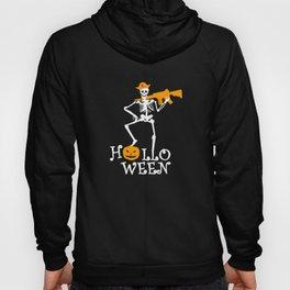 Halloween Skeleton Party Weapon Gift Idea Hoody