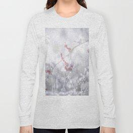 Winter Scene Rowan Berries With Snow And Bokeh #decor #buyart #society6 Long Sleeve T-shirt