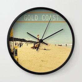 Gold Coast Main Beach retro  Wall Clock