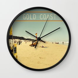 Gold Coast Main Beach retro  Wall Clock