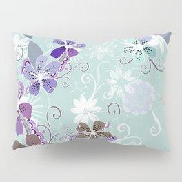 Summer blossom, blue and purple Pillow Sham