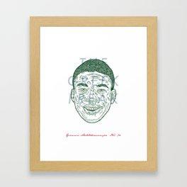 The Greek Freak Framed Art Print