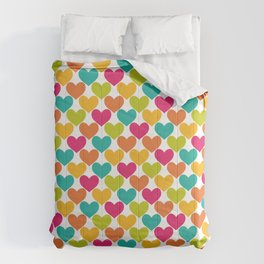 Lovely Hearts Comforters