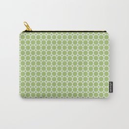 Lil Circles in Spring Green Carry-All Pouch