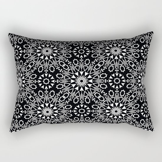 Oriental, ornament, black and white. Rectangular Pillow