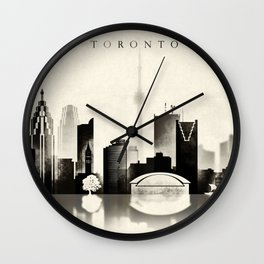 Toronto, Black and White, Canada Wall Clock