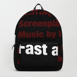 The Fast and the Furious cast & crew Backpack