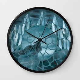 Moonlight Story (Teal) Wall Clock