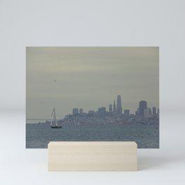 San Francisco Skyline from Sausalito, California #2 Mini Art Print
