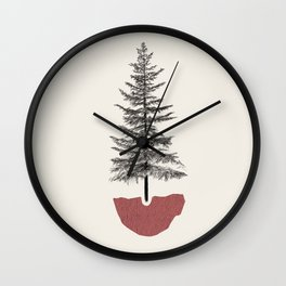 Fir Pine Wall Clock