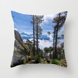 Volcano Tacana Descent Throw Pillow